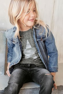 Next Denim Distressed Western Jacket (3-16yrs)