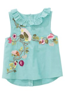 Next Aqua Embroidered Blouse (3-16yrs)