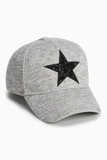 Next Grey Marl Star Cap (Older Girls)