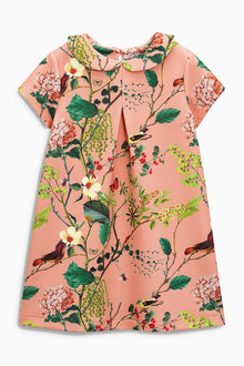 Next Pink Floral Shift Dress (3mths-6yrs)
