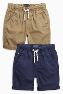 Next Navy/Tan Pull On Shorts Two Pack (3-16yrs)