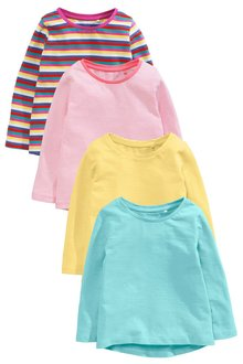 Next Multi Long Sleeve Tops Five Pack (3mths-6yrs)