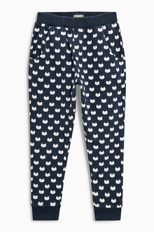 Next Navy Cat Print Joggers (3mths-6yrs)