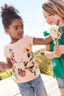 Next Pink Floral T-Shirt (3mths-6yrs)