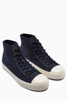 Next Navy Canvas Boot