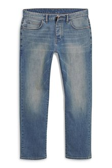 Next Chalk Wash Jeans With Stretch - Slim Fit