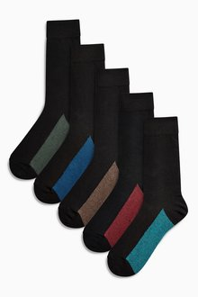 Next Footbed Socks Five Pack