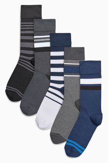 Next Mixed Stripe Socks Five Pack