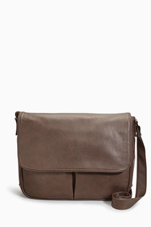 Next Brown Messenger Bag