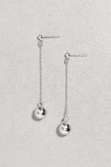 Next Sterling Silver Sphere Drop Earrings