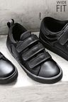 Next Triple Strap Shoes (Older Boys) - Wide Fit