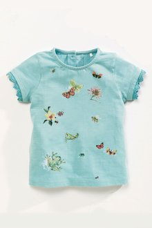 Next Aqua Print T-Shirt (3mths-6yrs)