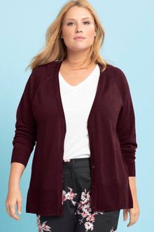 Plus Size - Sara Merino Relaxed Cardigan