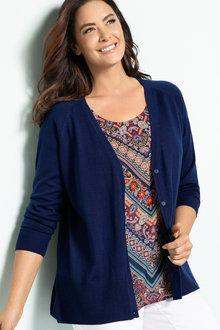 Plus Size - Sara Merino Relaxed Cardigan