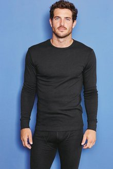 Next Black Thermal Lightweight Long Sleeve Top