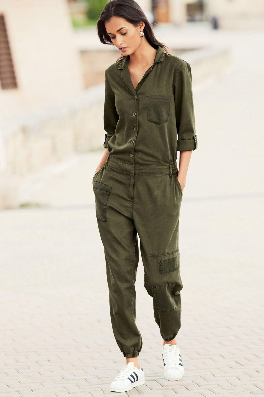 0e04e620bb3 Next Khaki Patch Jumpsuit - Petite Online