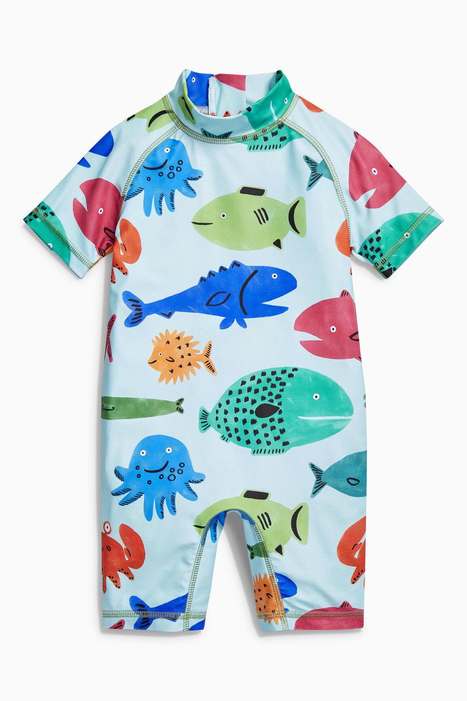 cd27d2209e846 Next Fish Print Sunsafe Suit (3mths-6yrs) Online | Shop EziBuy