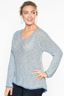 Plus Size - Sara V Neck Jumper