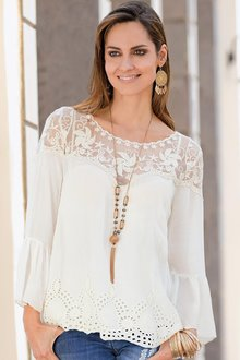 Plus Size - Together Woman Lace Top