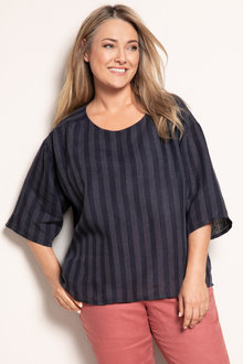 Plus Size - Sara Linen Top