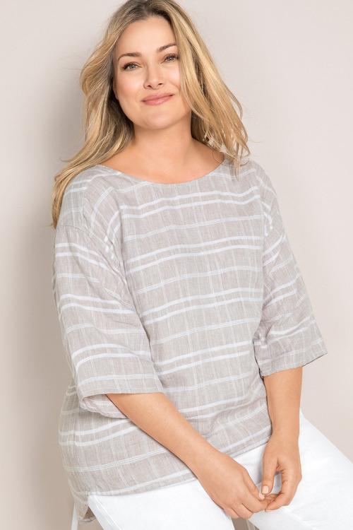 7e00bae1eab Plus Size - Sara Linen Top