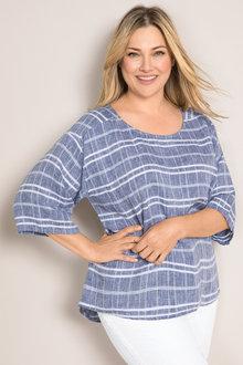 Plus Size - Sara Linen Top