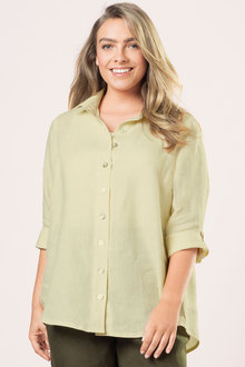 Sara Longline Linen Shirt - 175798