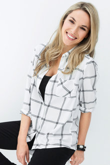 Urban Check Blouse