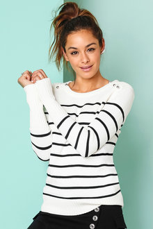 Urban Button Detail Pullover