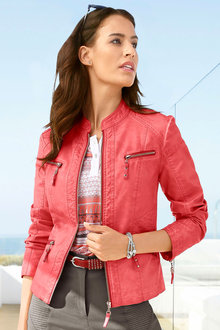 Capture European Faux Leather Jacket