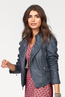 Urban Leather-Look Jacket - 175834