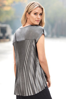 Capture Pleat Back Metallic Top - 175839