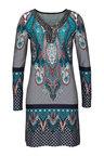 Urban Bead Detail Print Dress