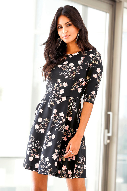 Urban Printed Tea Dress