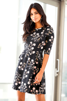 Urban Printed Tea Dress
