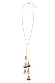 Multiple Tassel Necklace - 175857