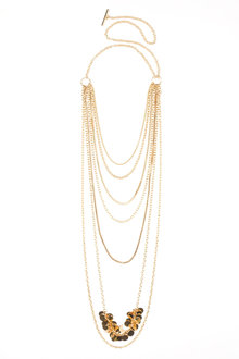 Multi Chain Disc Necklace - 175867