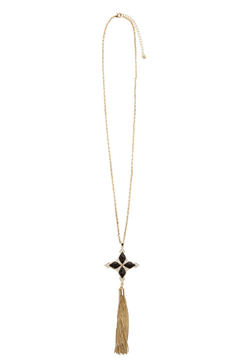 Star Cross Tassel Necklace