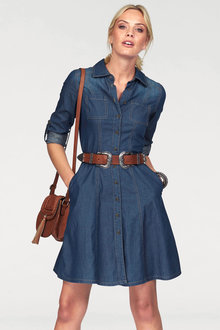 Urban Chambray Shirt Dress