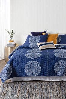 French Navy Quilt Set