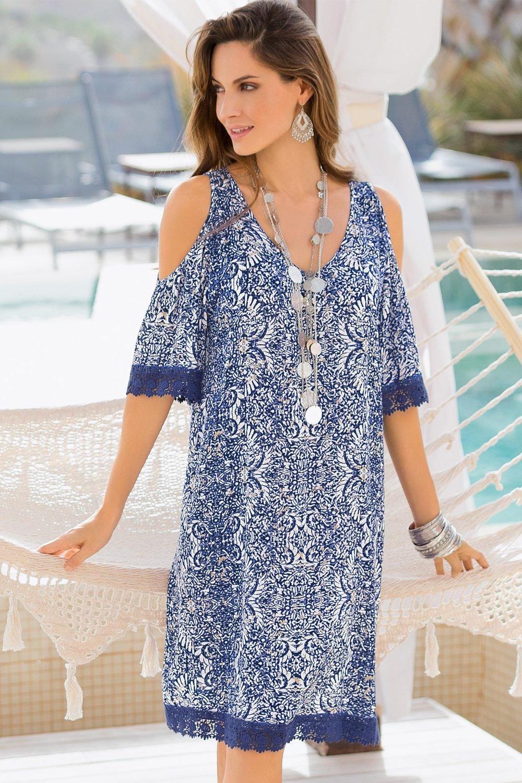 586a65a9165e20 Plus Size - Together Woman Cold Shoulder Dress