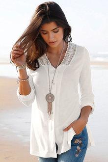 Urban Lace Detail Shirt - 176496