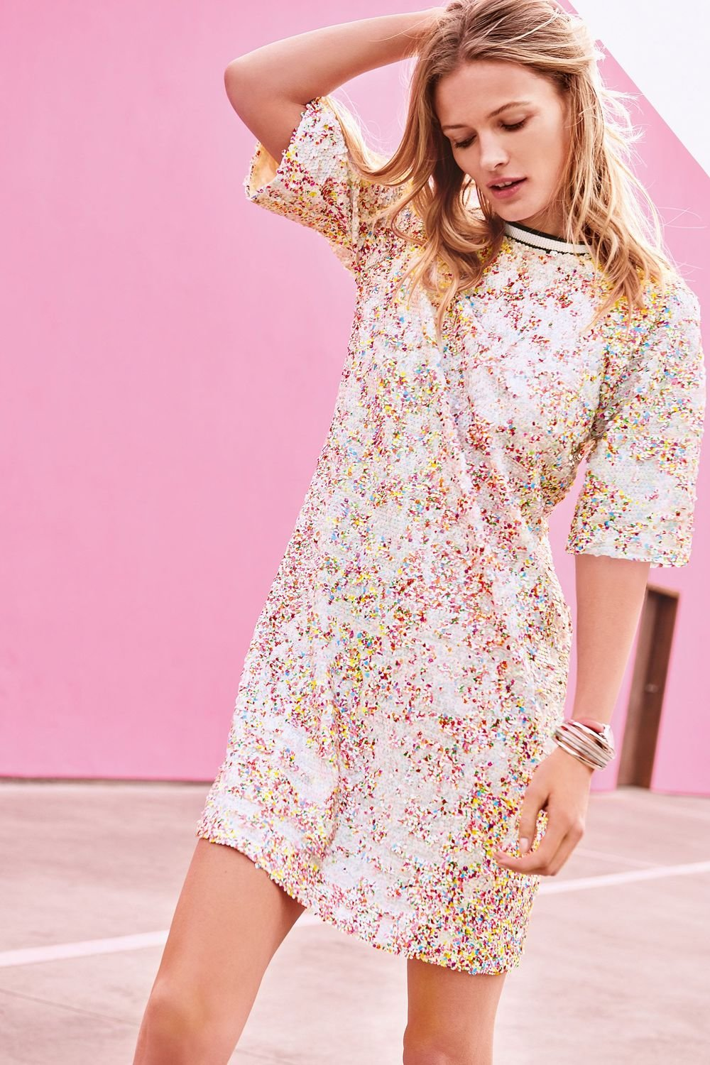 b7ed9ff0 Next Multi Sequin Dress Online | Shop EziBuy