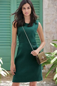 Next Ribbed Texture Dress - Petite