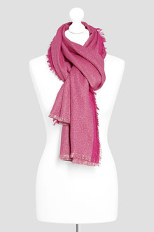 Next Pink Metallised Fibre Scarf