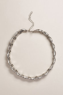 Next Silver Tone Burnished Circle Detail Choker
