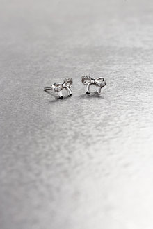 Next Sterling Silver Bow Detail Earrings