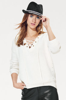 Heine Lace Up Pullover