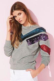 Next Grey Sequin Sweater