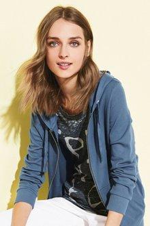 Next Grey Fur Jacket With Leather Sleeves - Jacket